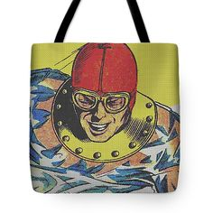 Streetwear Tote Bag featuring the mixed media Hydroman 2 by Otis Porritt