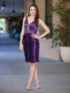 Gorgeous sleeveless A line dress for the mother of the bride.