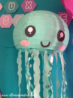 Classroom İdeas 453878468680354311 - méduse papier jellifish diy Plus Source by fannylemore Under The Sea Theme, Under The Sea Party, Toddler Crafts, Crafts For Kids, Decoration Creche, Little Mermaid Parties, Baby Shower Signs, Mermaid Birthday, Birthday Diy