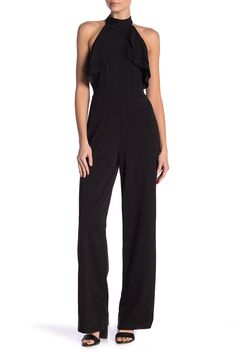 4c3fab749ae Ruffle Halter Jumpsuit by bebe on  nordstrom rack Jumpsuit Outfit