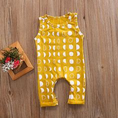 2017 Summer Cotton Newborn Kids Baby Boy Girl Romper Bodysuit Moon Print Clothes Outfits #Affiliate