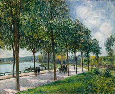 Alfred Sisley: Allée of Chestnut Trees, 1878