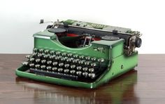 Reconditioned Royal P Green Antique Typewriter  by MahoganyRhino
