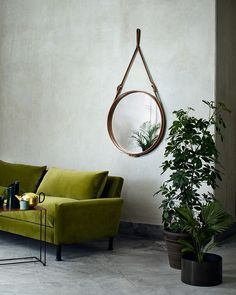 Olive Green color trend 2015 - Sofa and Mirror Forrest Glover Design - Interior Design Blog San Francisco, Marin, Sonoma, East Bay