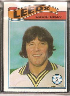 TOPPS-FOOTBALL 1978LEEDS UNITED - EDDIE GRAY Soccer Cards, Football Cards, Baseball Cards, Leeds United Football, Leeds United Fc, Football Stickers, Player Card, Liverpool, Soccer Stuff