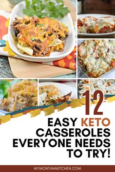 These keto casseroles include recipes for low carb philly cheese steak casserole, breakfast casserole, and chicken broccoli casserole! A collection of the best low carb casseroles for dinner! #ketocasseroles #easydinnerrecipes #lowcarbdinner #keto