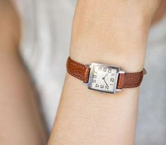Simple women's watch Ray square lady's wristwatch