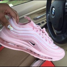Nike Jayson Tatum x Air Max 97 'Saint Louis Roots' – yeezy running shoes Cute Nike Shoes, Cute Nikes, Nike Air Shoes, Colorful Nike Shoes, Pink Nike Shoes, Nike Socks, Nike Air Vapormax, Kicks Shoes, Shoes Sneakers