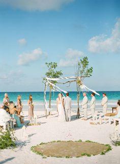 beautiful beach wedding arch http://www.trendybride.net/beach-wedding-arches/ #trendybride