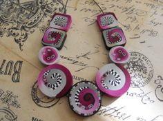 Polymer Clay Beads by TLS Clay Design by TLSClayDesign on Etsy, $17.99