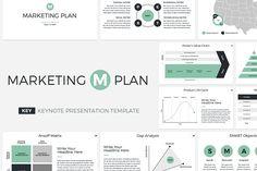 Marketing Plan Keynote Template by CreativeSlides on @creativemarket
