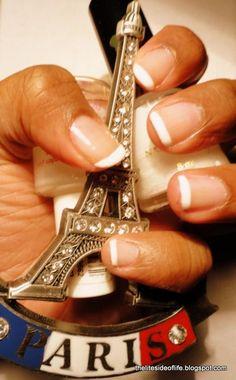 Classic go to mani, the #french manicure  via Craig Beavers