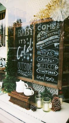 hand-lettered chalkboard by Katey Dutton for The Herb Shoppe Portland on Hawthorne. Commissioned by @ulrike Karner Pankratz and the UP Design Lounge