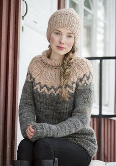 Ravelry: 26 Naisen neulepusero by Lea Petäjä Beginner Knitting Patterns, Fair Isle Knitting Patterns, Sweater Knitting Patterns, Fair Isle Pullover, Woolen Tops, Icelandic Sweaters, Crochet Clothes, Knitwear, Knit Crochet