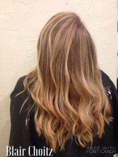 Balayage Ombre Using A Bit Of Back Combing For Diffused Effect Curling Iron