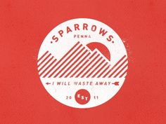 (Dribbble - Camp Sparrows by Colin Miller)  The orange and the white lines on the mountains pop in this logo. Also, the one color throughout maintains unity. The circle shape is repeated 3 times (sun, est., and the main logo itself) which helps the viewer to see a theme. And the brand, Sparrows, is curved to match this as well as to keep your eye moving all around the circle.