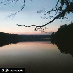 #Repost @wdrodzedo with @repostapp ・・・ Po zachodzie słońca. Jezioro Dadaj…