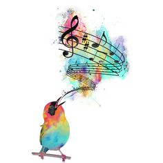 Wynonna on Song bird just like me because i have singing lessons and sing all the time! Mehr Wynonna on Song bird just like me because i have singing lessons and sing all the time! Music Drawings, Art Drawings, Musik Wallpaper, Iphone Wallpaper, Music Tattoos, Tatoos, Bird Art, Watercolor Art, Art Projects