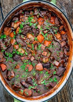 This Beef Bourguignon is a classic French beef stew recipe adapted from Julia Child. This Beef Bourguignon is so much more than just a beef stew, it's comforting and heavenly and a must try!