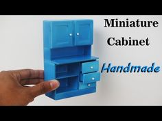(510) How To Make Realistic Miniature Cabinet Furniture - Handmade Dollhouse - YouTube