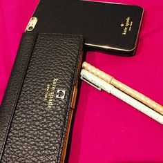 Kate Spade Textured Leather Billfold NWT Brand new w/tags. Soft leather feel with exterior zipped pocket. Button closure. Phone case not included kate spade Bags Wallets