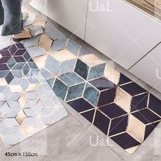 import shop U&L Tile Floor, Flooring, Contemporary, Rugs, Interior, Crafts, Home Decor, Products, Farmhouse Rugs