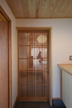Narrow House, Japanese Interior, Japanese House, Entrance Hall, Asian Style, Wooden Furniture, Blinds, Minimalist, Doors