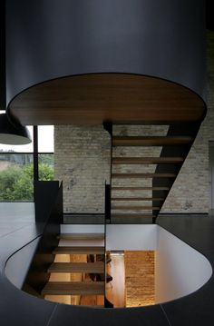 One overlooked part of the stair is the hole in the slab itself  Think sculptural quality Think slab too