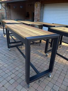 new home furniture Welded Furniture, Industrial Design Furniture, Loft Furniture, Iron Furniture, Steel Furniture, Furniture Design, Wood Steel, Wood And Metal, Home Gym Decor