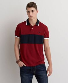 Shop Men's Polo Shirts at American Eagle to an iconic fit. These comfortable, classic shirts are available in a variety of colors, styles and sizes only at AE. Sperrys Men, American Eagle Men, Under Armour Men, Mens Outfitters, Adidas Men, Mens Fashion, Humor, Clothes For Women, Mens Tops