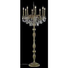 Cinnamon plated 8 light crystal floor lamp Traditional Floor Lamps, Crystal Beads, Crystals, Plating, Chandelier, Bulb, Ceiling Lights, Flooring, Lighting