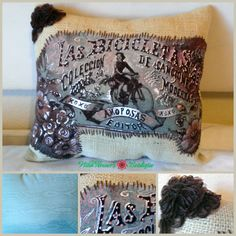 Check out this item in my Etsy shop https://www.etsy.com/listing/169103098/las-bicicletas-bike-pillow
