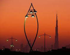 Festival City, Dubai by ewo   Street lights