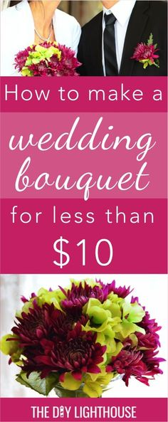 Cheap and easy DIY wedding bouquet How to make a wedding bouquet for less than 10 bridal tip and ideas for an inexpensive wedding bride flowers on a budget Cheap Wedding Bouquets, Inexpensive Wedding Flowers, Diy Wedding Bouquet, Diy Bouquet, Diy Wedding Flowers, Diy Wedding Decorations, Wedding Themes, Homemade Bouquet, Wedding Events