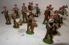 Lot 54 - Derek Wailen Band of the City Imperial Volunteers (Drum Major missing) and nine British Infantry