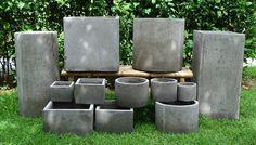 Diy Planters, Planter Pots, Cement Art, Papercrete, Concrete Molds, Flower Pots, Flowers, Verbena, Origami
