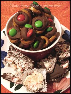 Gluten-free holiday treats; I tried the peppermint bark bites and they were a huge hit!
