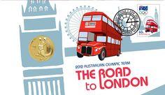 Australie, Premier Jour du timbres des Jeux Olympiques Londres 2012 © DR.