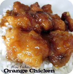 Slow Cooker Orange Chicken #Recipe #Dinner #Maindish