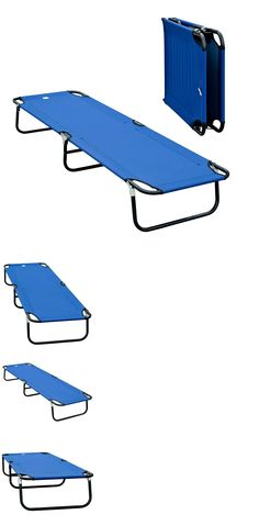 Cots 87099: Portable Folding Camping Bed Cot Military-Style Hammock Steel Pipe Outsunny Blue -> BUY IT NOW ONLY: $34.99 on eBay!