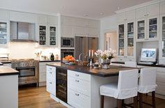 New England Style Homes   Stockholm Vitt - Interior Design: New England Style Kitchen