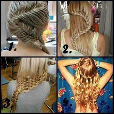 Such interesting braids....I want to learn how to make them.