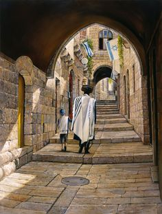 Sabbath at the Jewish Quarter in Jerusalem - ALEX LEVIN