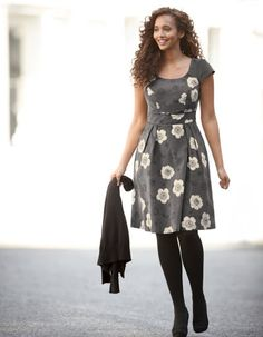 Cord Dress by Pepperberry. Pretty. I could definitely go broke buying from this company.  http://www.bravissimo.com/pepperberry/products/dresses/day-dresses/cord-dress/grey-floral/pd235gfa/