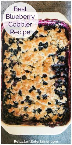 Easy Desserts, Delicious Desserts, Dessert Recipes, Fruit Dessert, Easy Blueberry Desserts, Fruit Cakes, Health Desserts, Dessert Ideas, Cake Recipes