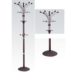 Nata Collection Modern Espresso Finish Coat Rack with Round Base