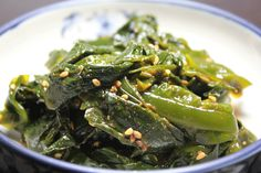 Miyeok Muchim (Seasoned Fresh Seaweed) is one of popular   side dishes in Korea. Miyeok is considered as a healthy food because it is good for healthy heart and blood vessel due to plenty of iodine in Miyeok and also good for diet and constipation because  of low calorie and plenty of alginic acid.