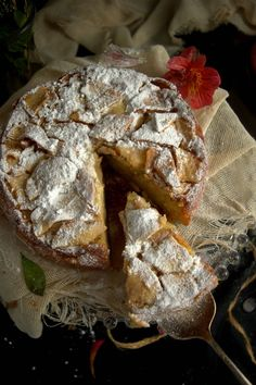 French apple cake, scroll down to end for the english recipe Apple Cake Recipes, Apple Desserts, Cookie Desserts, Just Desserts, Baking Recipes, Delicious Desserts, Dessert Recipes, Yummy Food, French Apple Cake