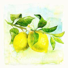 lemon energy by Zulfiya Zagidullina on Etsy