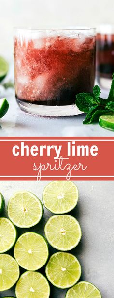 This Tart Cherry Spritzer is an easy-to-make mocktail -- using frozen tart cherries, tart cherry concentrate, lime juice, and sparkling cherry water. Party Drinks, Cocktail Drinks, Fun Drinks, Cold Drinks, Beverages, Mexican Cocktails, Refreshing Drinks, Summer Drinks, Cherry Tart